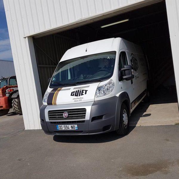 Guiet Construction, camions Guiet au Château d'Olonne en Vendée