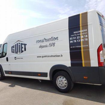 Guiet Construction, camions Guiet Construction au Château d'Olonne en Vendée